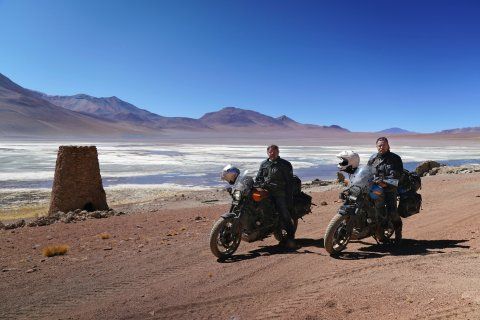 The bottom of South America to LA