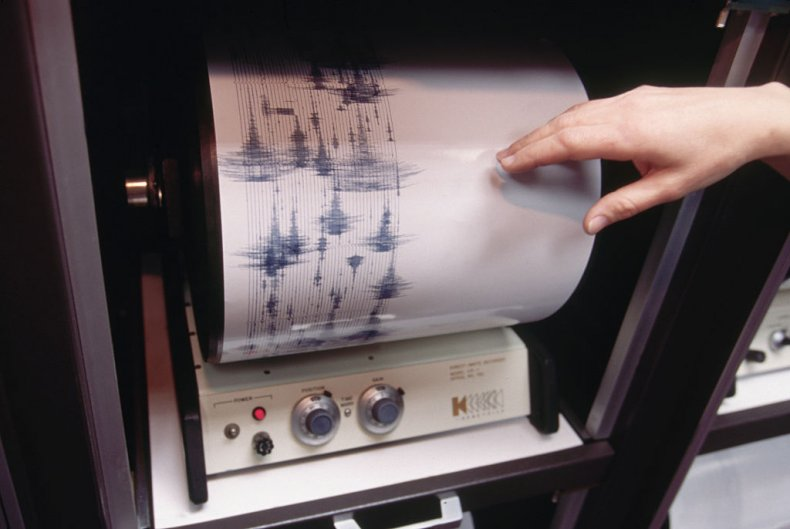 Seismogram Data After Northridge Earthquake in 1994