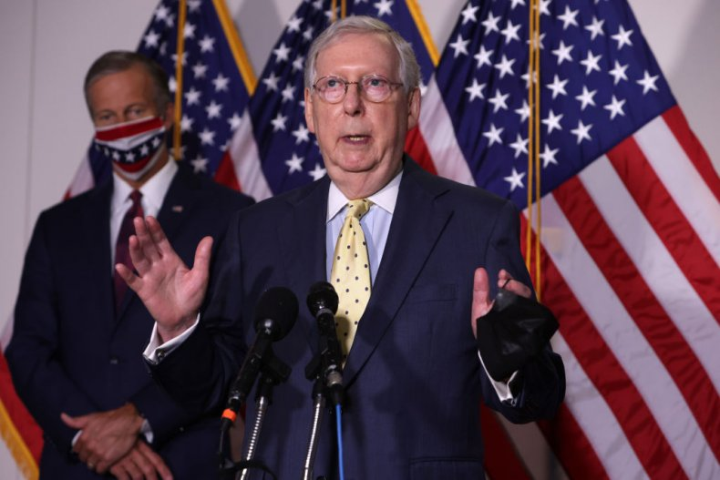 Senator Mitch McConnell Speaks to the Media