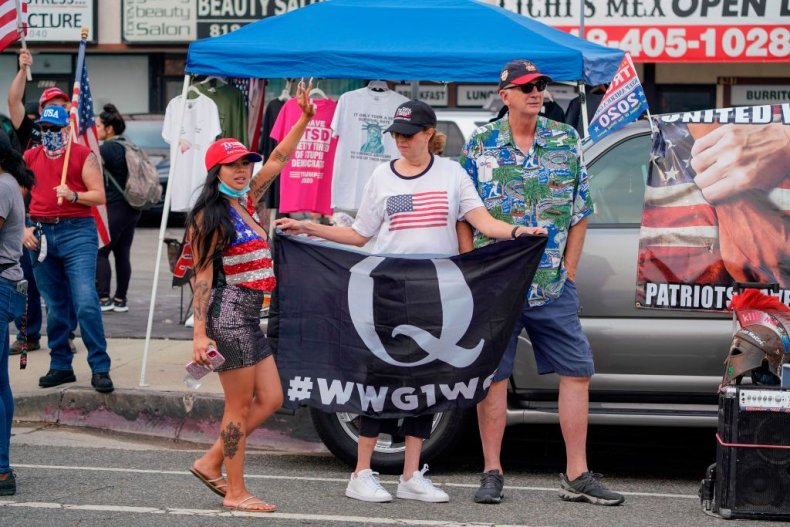 Qanon Supporter in Los Angeles
