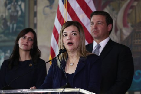 Barbara Lagoa with Florida Governor Ron DeSantis