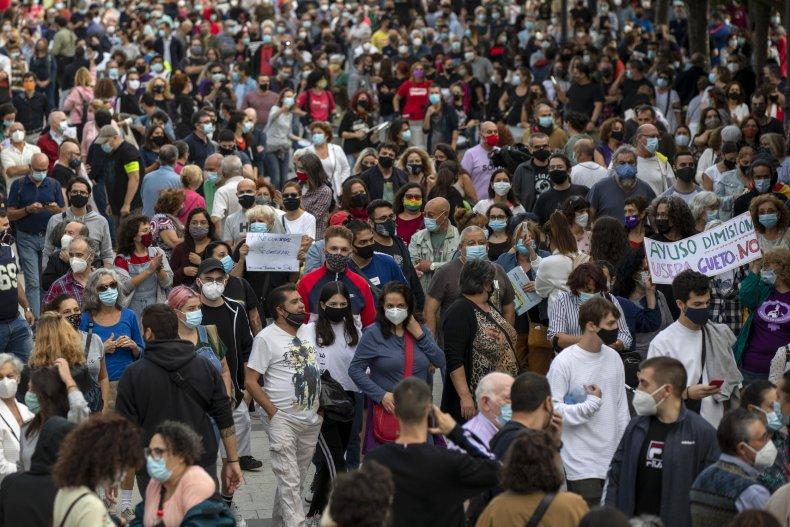 coronavirus protest madrid spain September 2020