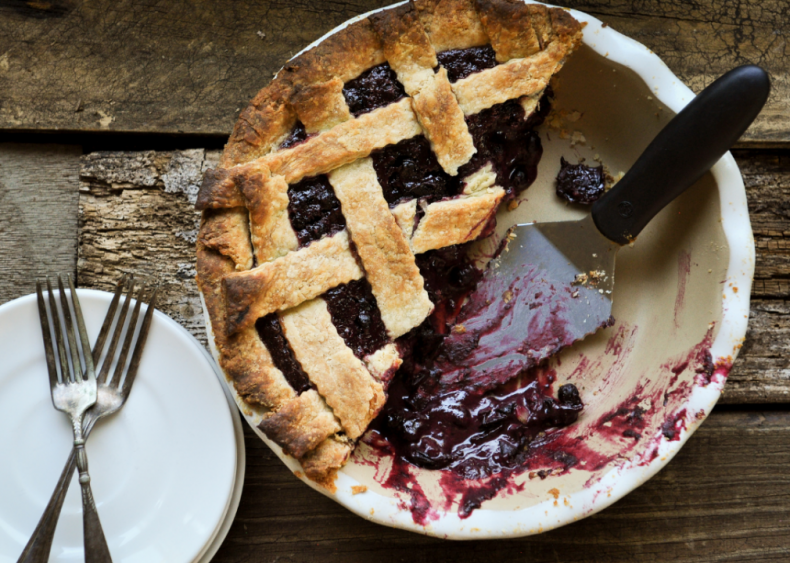 Idaho: Huckleberry pie