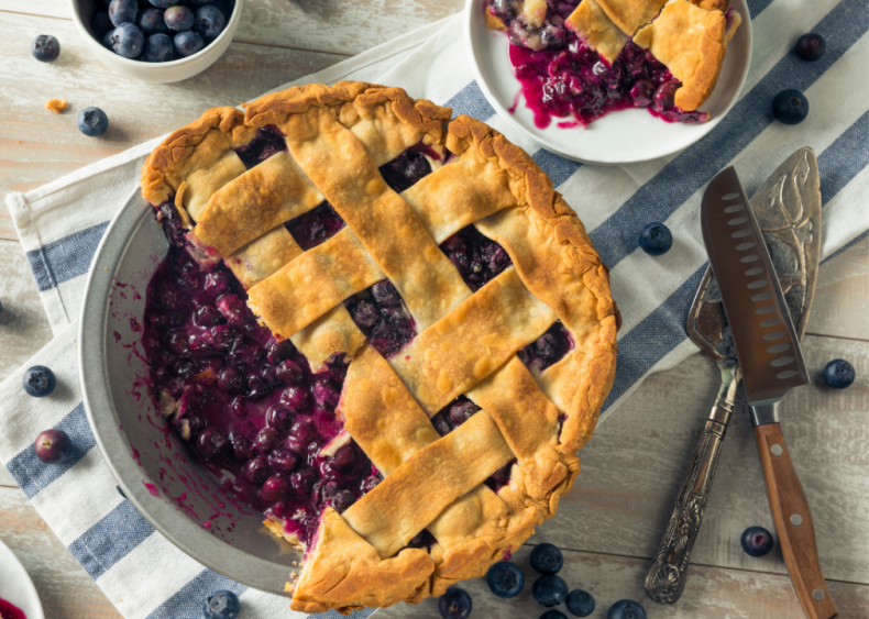 Maine: Blueberry pie