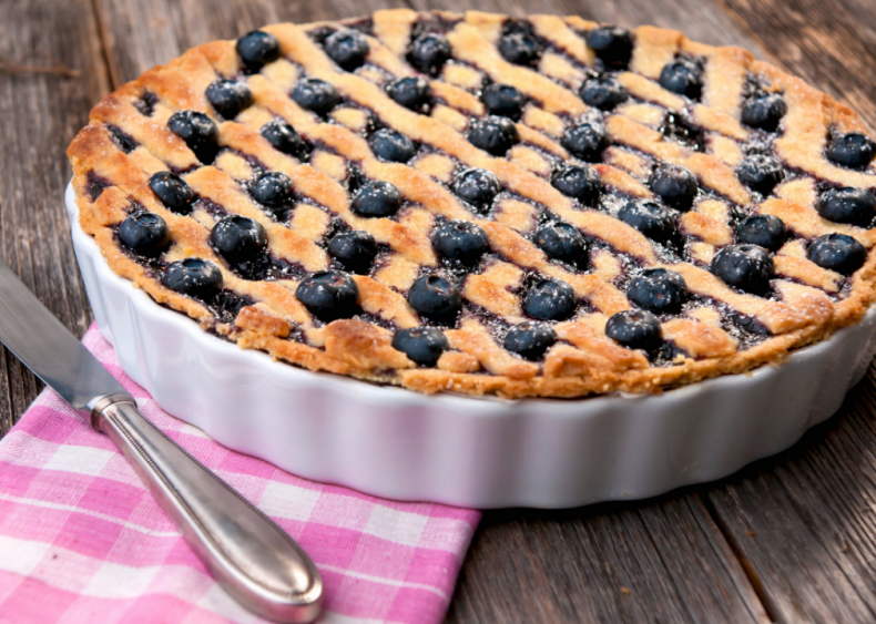 New Jersey: Blueberry pie