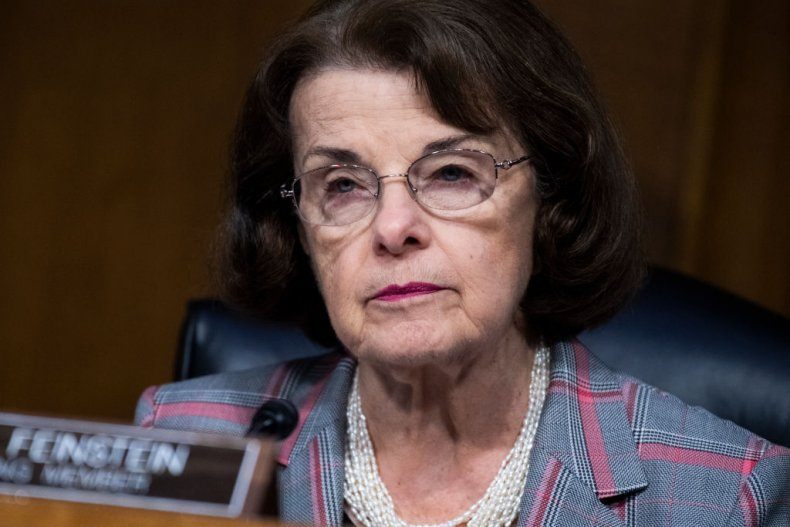 Senator Dianne Feinstein at the Judiciary Committee