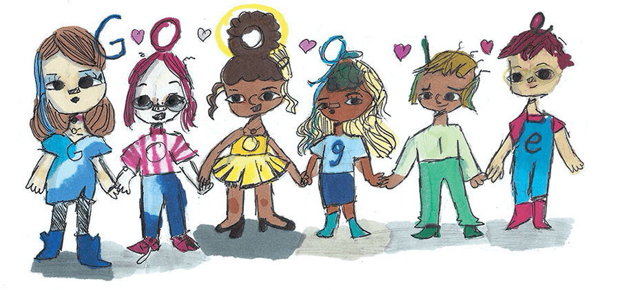 Doodle for Google 2020 Winner is Texas Fifth-Grader with Friendship Drawing