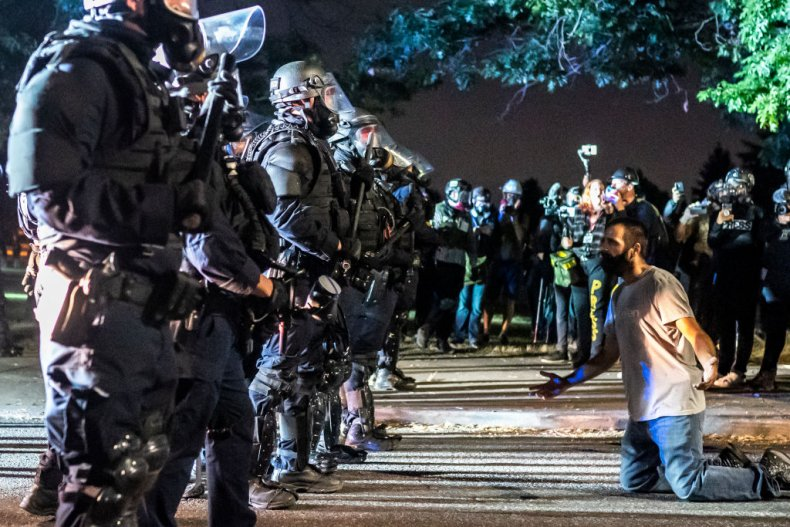Portland protest police