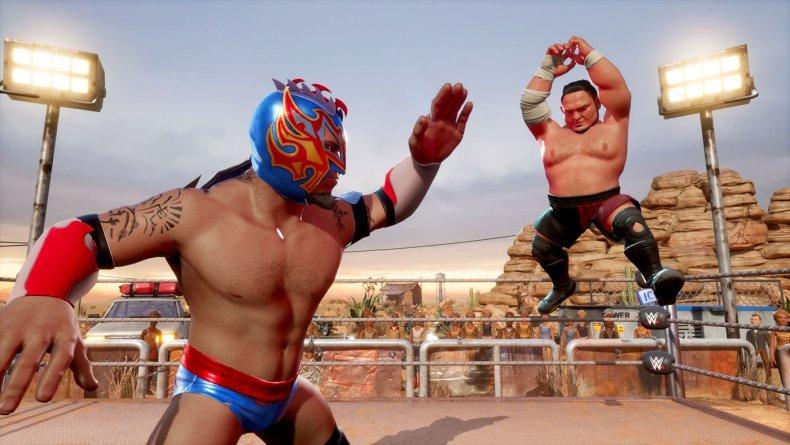 WWE 2K Battlegrounds Kalisto vs Samoa Joe