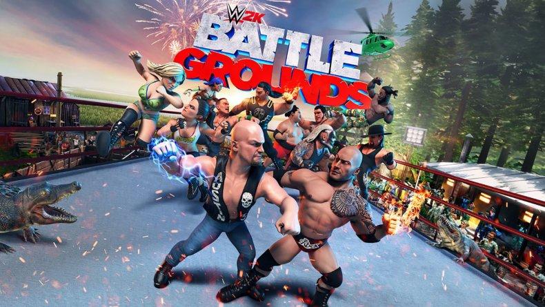 WWE 2K Battlegrounds Game Poster