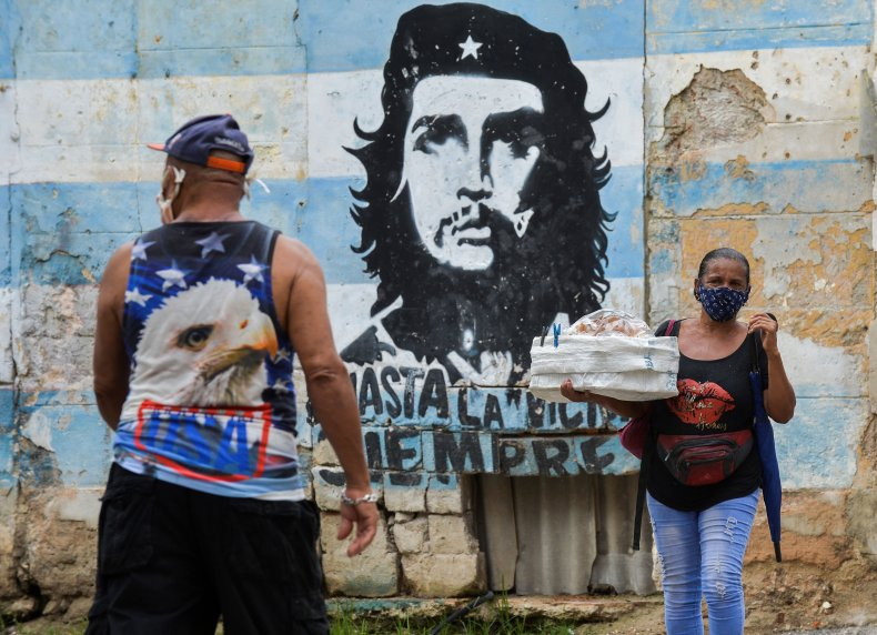 cuba, che, mural, coronavirus, sanctions
