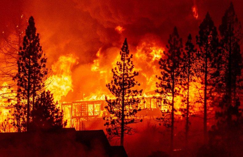 Creek fire Fresno California September 2020