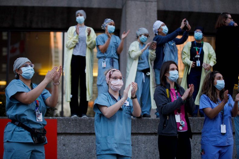 Coronavirus health workers Toronto Canada April 2020