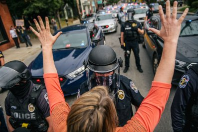 police protest Kentucky