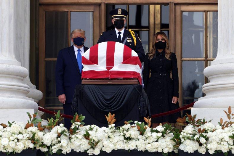 Trump visits RBG's casket