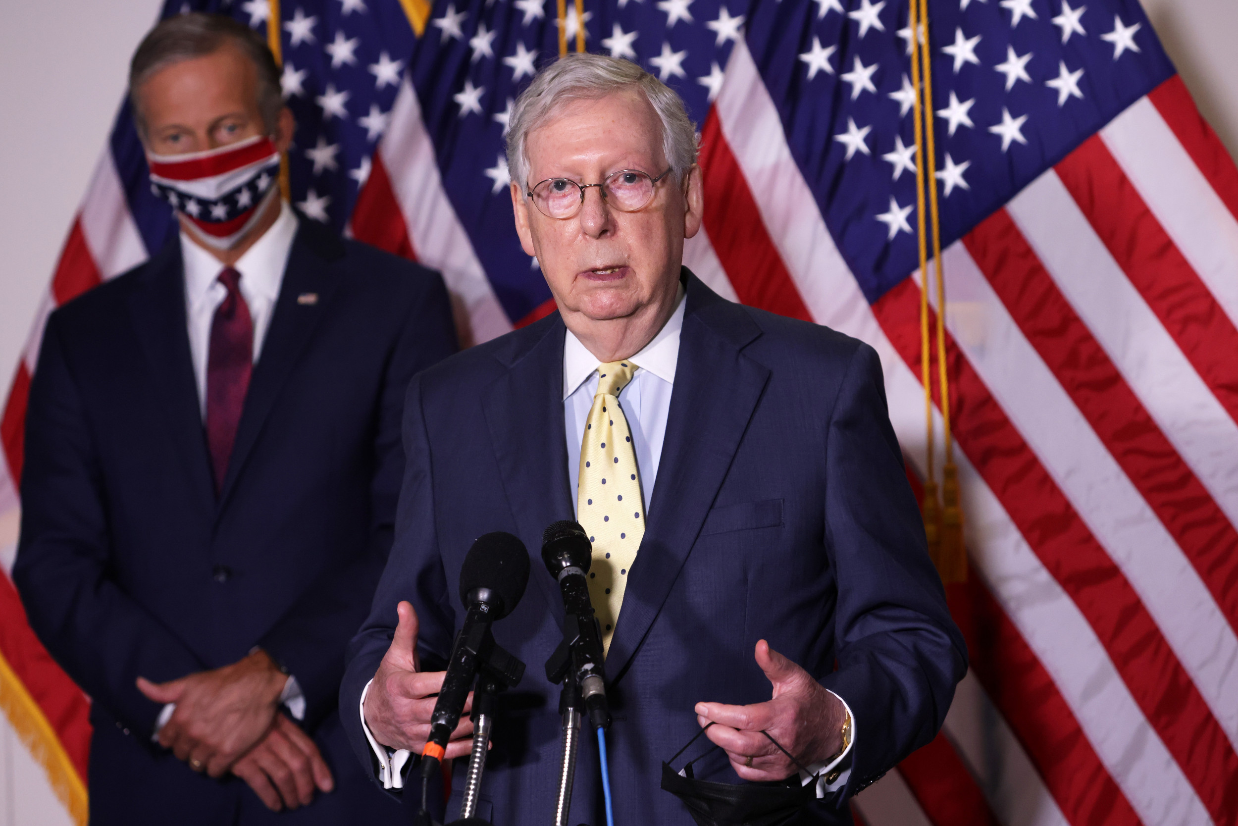 """McConnell defends voting on Supreme Court nominee, says """"we can't pick"""" when """"big decisions"""" have to happen"""