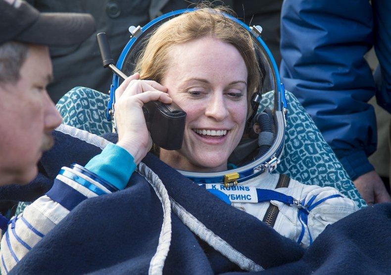 Kate Rubins NASA astronaut voting message space