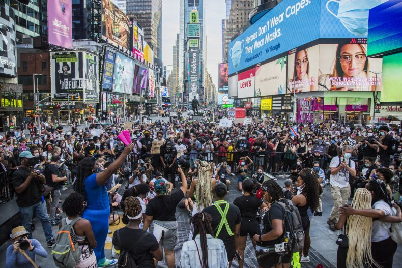 Times Square NYC BLM protests July 2020