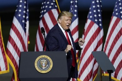 President Trump at campaign rally in Virginia