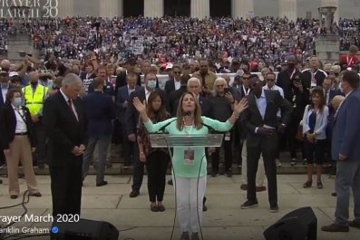 graham michelle bachmann prayer march