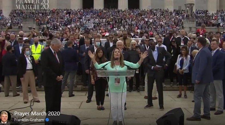 graham michelle bachmann prayer march