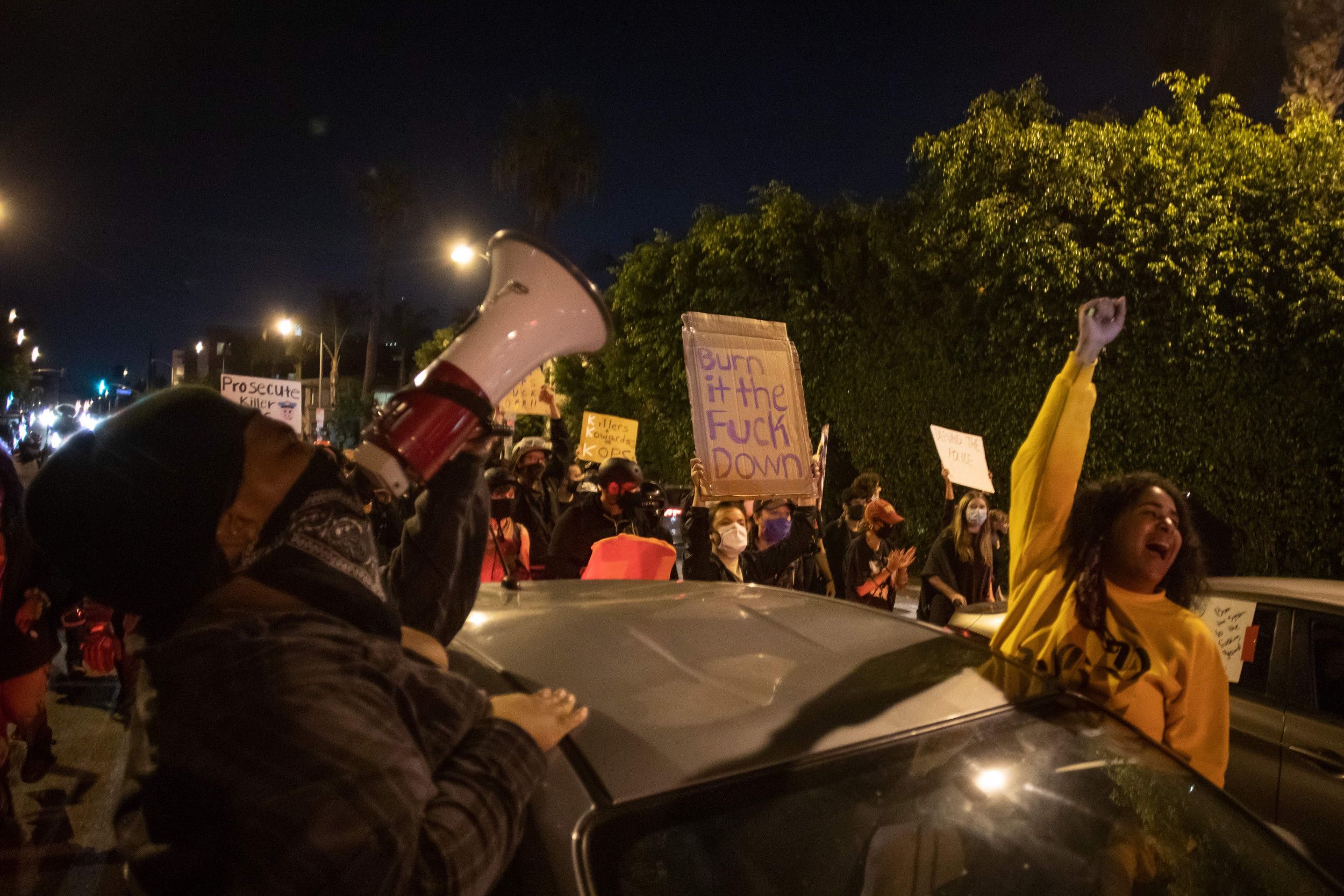Third driver plows car through crowd of Black Lives Matter protesters in California