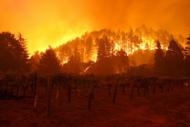 Glass Fire Napa County California September 2020