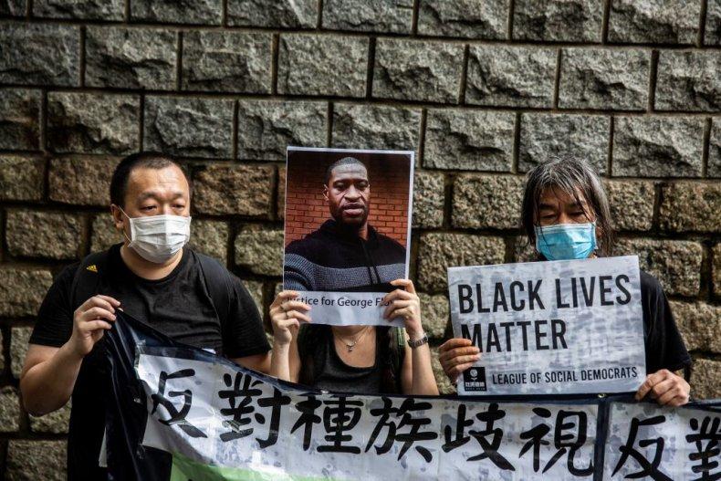 Black Lives Matter rally in Hong Kong