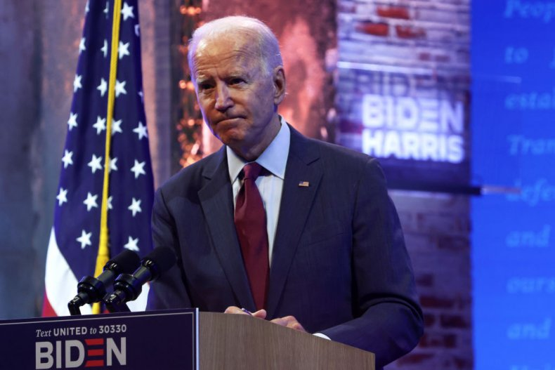 Joe Biden Speaks During a Campaign Event