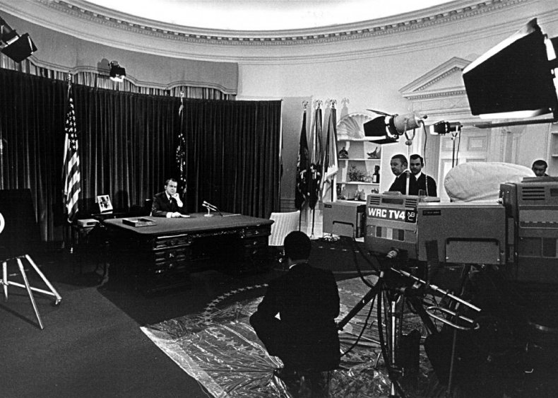 1970: Nixon overrides repeal of the equal-time rule in elections