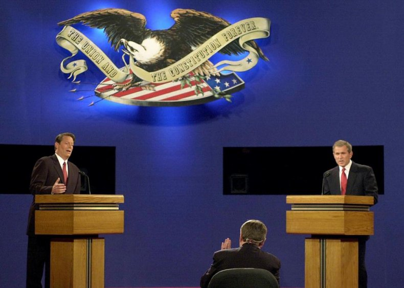 2000: Candidates need 15% support in polls to debate