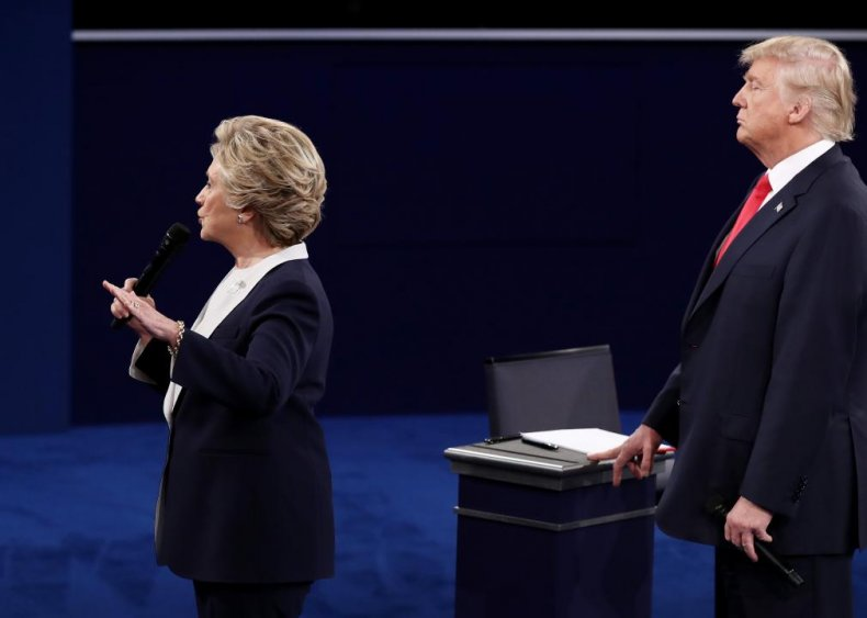 2016: Trump stalks Clinton