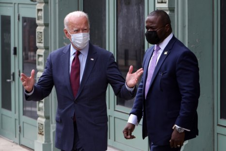 Joe Biden Leaves a Campaign Event