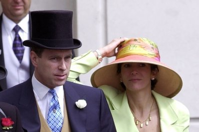 Prince Andrew and Ghislaine Maxwell at Ascot
