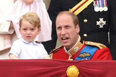 Prince George, Prince William, Trooping the Color