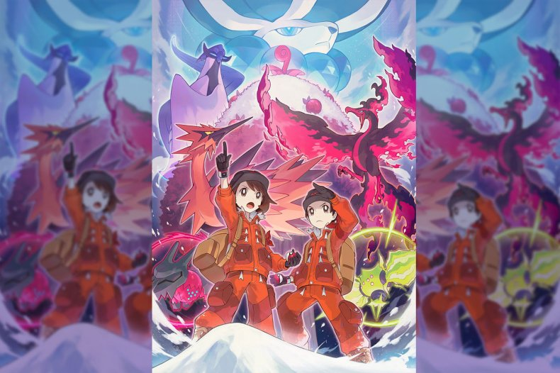pokemon sword shield crown tundra key art