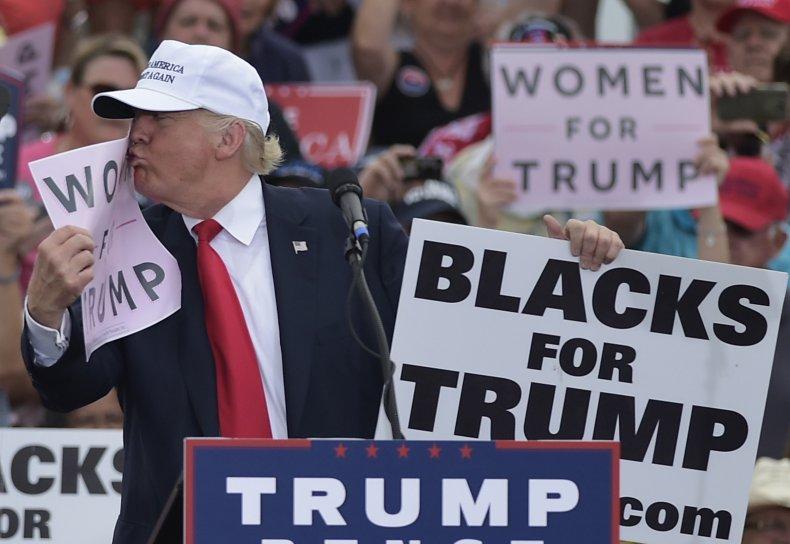 Donald Trump Joe Biden yard signs racist