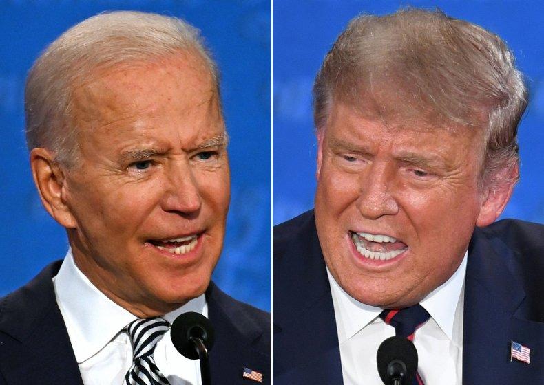 Trump and Biden at Debate