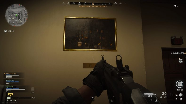 call duty warzone subway easter egg painting