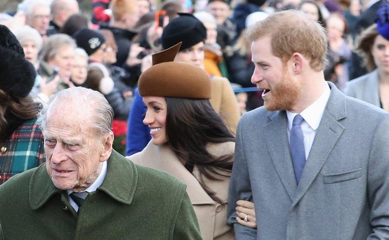 Meghan Markle, Prince Harry With Prince Philip