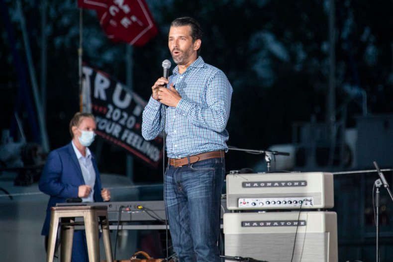 Donald Trump Jr. Speaks at a Rally