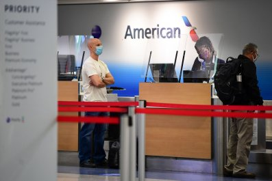 American Airlines check-in desk