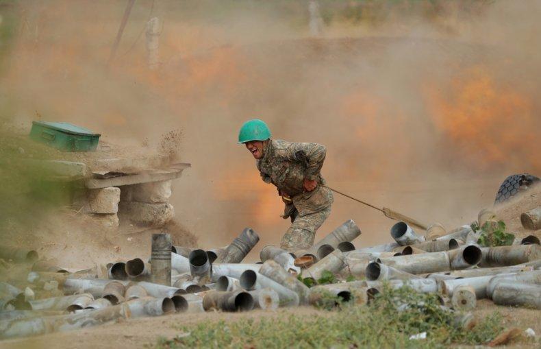 armenia, artillery, war, azerbaijan