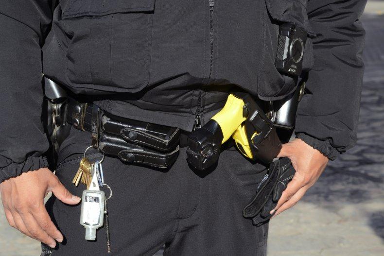 Officer's Taser on Belt