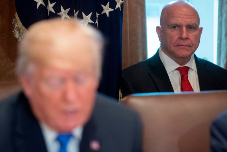 H.R. McMaster with Trump