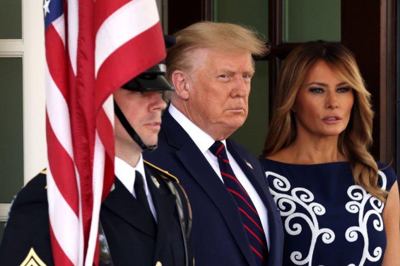 Donald and Melania Trump Waiting for Netanyahu
