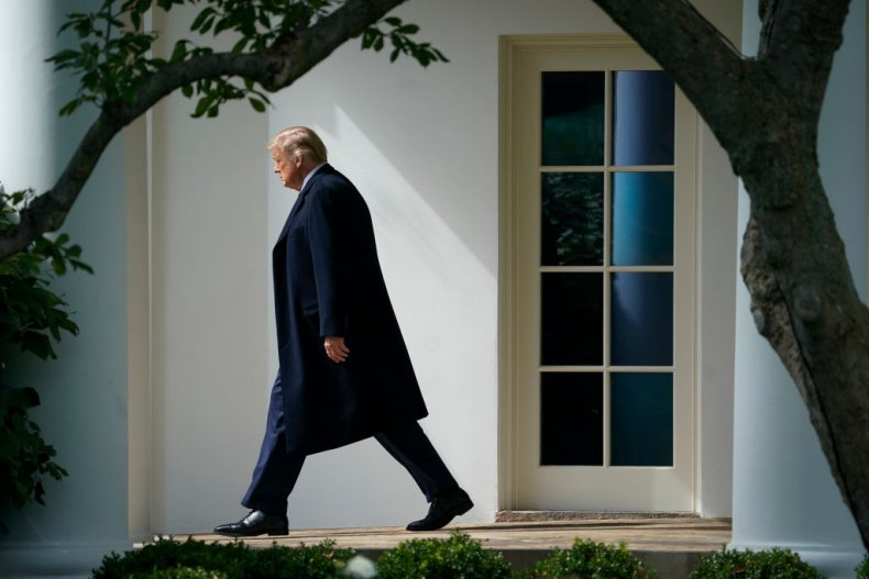 US President Donald Trump White House Lawn