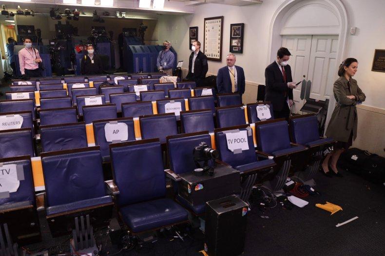 White House journalists press COVID-19 diagnosis coronavirus