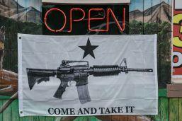 Banner outside gift shop in North Carolina