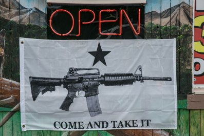 Banner outside gift shop in North Carolina